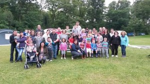 a group of us went camping to Golden Valley Caravan park in Derbyshire